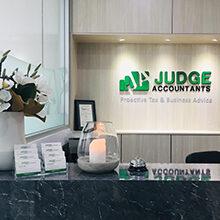 Reception Desk at Judge Accountants